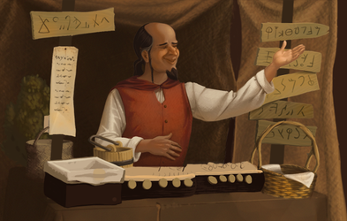 Foreign merchant WIP by tigre-lys