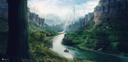 Rowing the Lucent Stream [With video] by Anagraphy