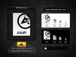 AIMP2 File Icons 'White' by aablab