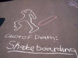 Cause of Death: Skateboarding by Zsy