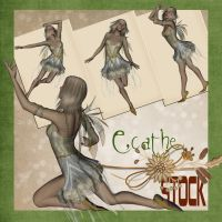 Angel fae stock by Ecathe