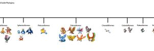 Ornithological Pokemon Field Guide Phylogeny by KFblade