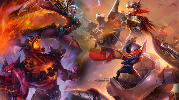 League of Legends Wallpaper - Orange by ciael