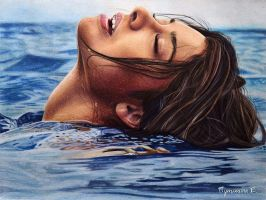 girl in the water by PutyatinaEkaterina