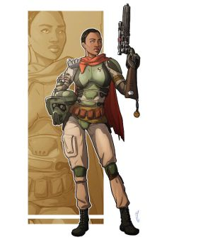 Commission: Star Wars Bounty Hunter by StefanoMarinetti