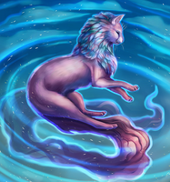 Magic Floating Cat by Noctualis