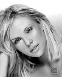 Charlize Theron Digital Paint by JoeDieBestie