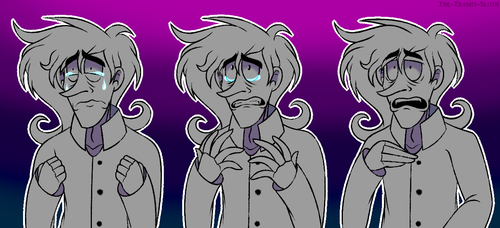 Well. This Is Sad. //Simple Colored Sketches// by The-Trashy-Sloth