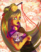 Monster High- Jinafire Long and Chen Stormstout by ShiChel