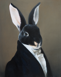Portrait of a rabbit by Buridanscat