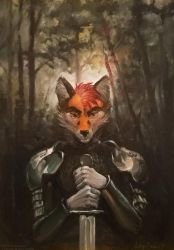 Warrior. (completed YCH) by SatynaPaper