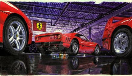 Ferrari Garage by schemeck