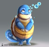 Kanto -  Squirtle by ArtKitt-Creations