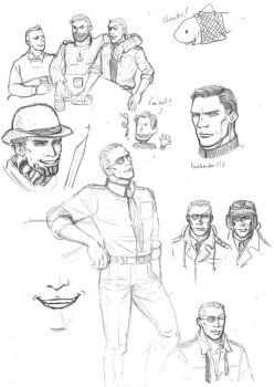 Tintin and Magneto sketches by eabevella