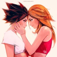 Tracer and Emily :) by rossdraws