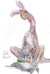 Easter Oviraptor by Lord-Triceratops