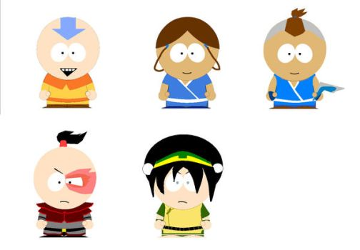Avatar- South Park Style by bendraws