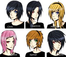 Vampire Valchrist Characters by kagomelovesinu