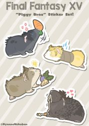 FFXV 'Piggy Bros' Stickers now available! by Nyaasu