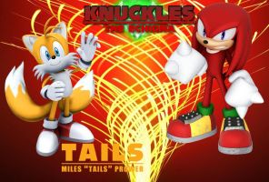 Tails And Knuckles - Wallpaper by Knuxy7789