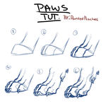 Paw tutorial by PaintedPeaches