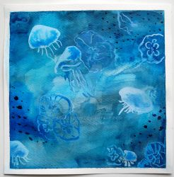 Jellyfish watercolor by Ashley2020