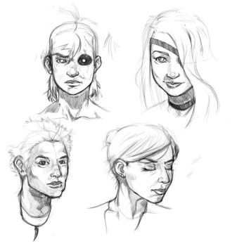 Sketches 2 by Paper-Domino