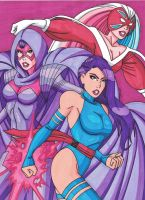 Three Faces of Psylocke by RobertMacQuarrie1