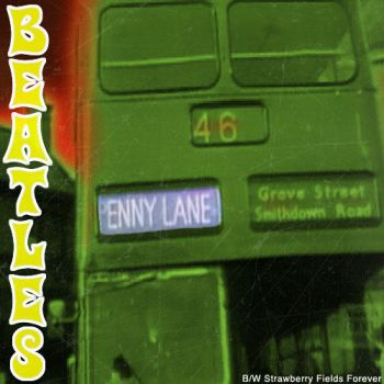 Beatles Penny Lane  45 Record Sleeve by besound410