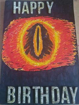 The Eye Of Sauron themed birthday card! by MadameButterfly94