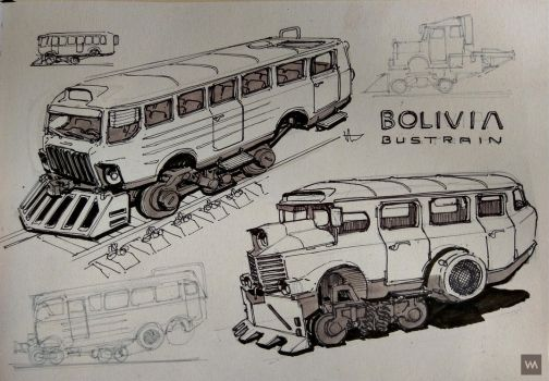 Bolivia Bustrain Sketch by IllOO