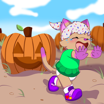 Scary pumpkin YCH- Framolianking by tailslover42