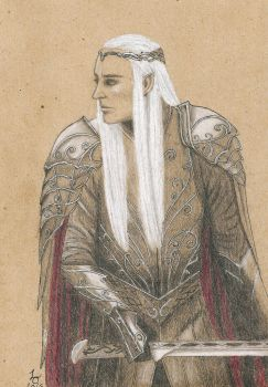 Thranduil in armour by NordicLynx