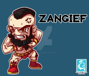 Street Fighter V - Zangief [Maplestory Style] by RedCaliburn
