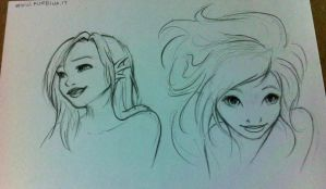 Mermaid expressions sketches by nime080