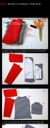 BJD shirt - TUTORIAL by so-fiii