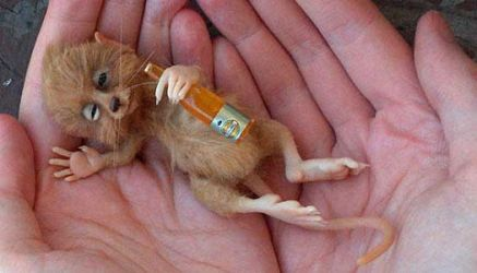 Drunk mouse by aleahklay
