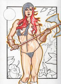 Red Sonja Battlle Axe By Josh by ComicVisionz