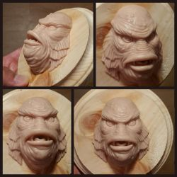 Creature From the Black Lagoon sculpture by ArtNomad