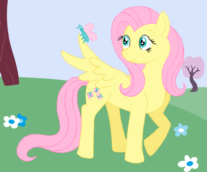 MLP Art Challenge Day 3: Fluttershy by Spyro-For-Life
