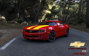 Fun color Red Camaro test2 by RJamp