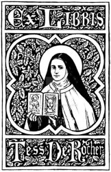 St. Therese Bookplate by Theophilia