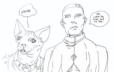 Saga Coloring Page Lying Cat and The Will by MyThoughtsAreDeep