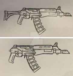 AK77 sketch by ModernMercenary