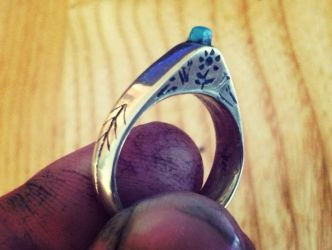Medieval stirrup ring by Dewfooter