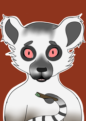 Stoned Lemur by DragonNinjaArt