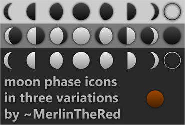 plain moon phase icons by MerlinTheRed