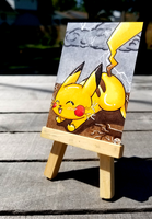 +Pikachu ACEO - Pokemon+ by madhouse-arts