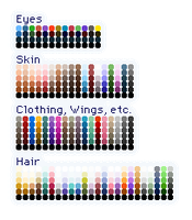 RPG Maker MV Sprite Palette by Amysaurus121