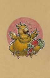 Fat Chocobo by mogstomp